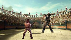 Conan and The Minotaur Gladiator