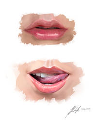 Mouth - painting study by michalmotyka