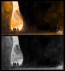 Value Study - Desert / Rocks by michalmotyka
