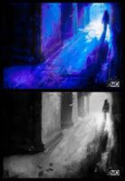 Value Study - Street by night by michalmotyka