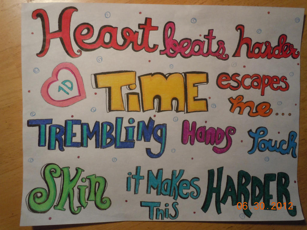 One direction lyric drawings torn