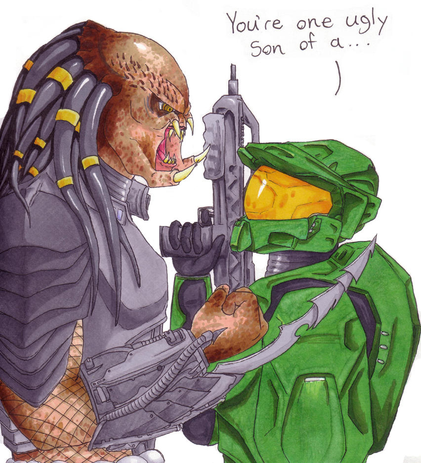 Predator Vs. Master Chief by TresMaxwell on DeviantArt
