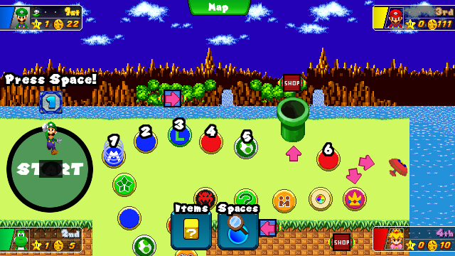Mario Party MP10-Styled Gameplay Mockup by FieryExplosion on