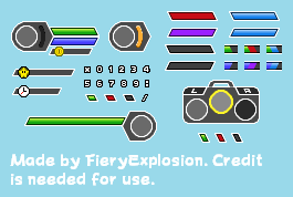 Custom Simplistic Fighting Game HUD by FieryExplosion