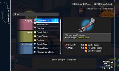 Kingdom Hearts III Equipment Menu Mock-up by FieryExplosion