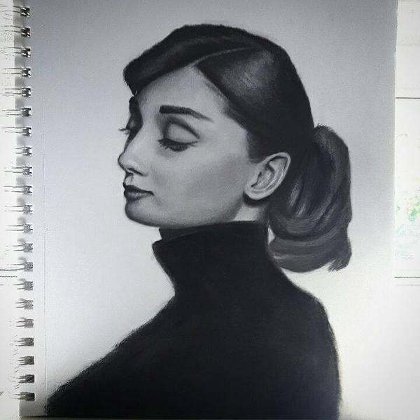 Audrey Hepburn by SporadicDuck