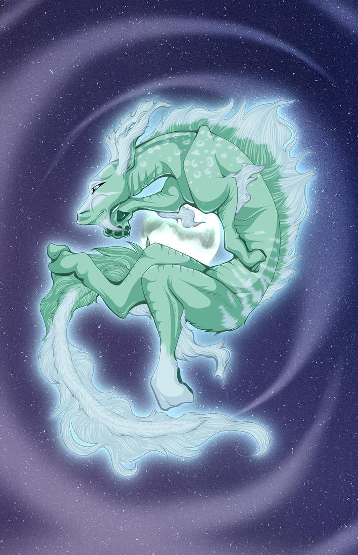 Bella Luna - Lunar Dragon by vampiretigress