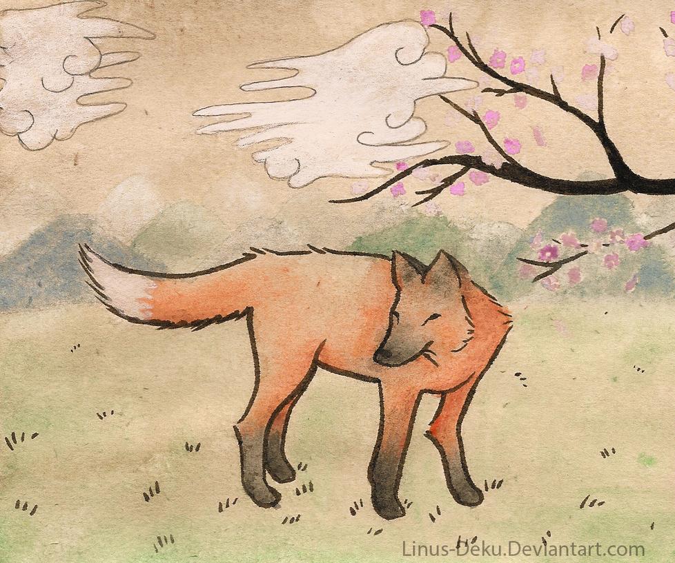 Traditional Japanese Painting by Linus-Deku ...