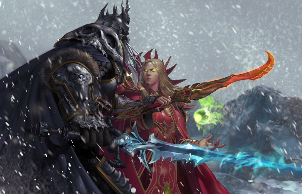 Arthas Menethil And Kael Thas Sunstrider By Heather Jk On
