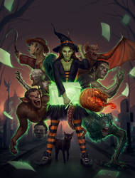Dibujados Halloween - Cover Art by FlavioGreco