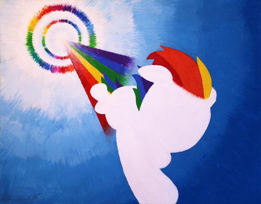 Silhouette Painting - Sonic Rainboom! by YoMilbert