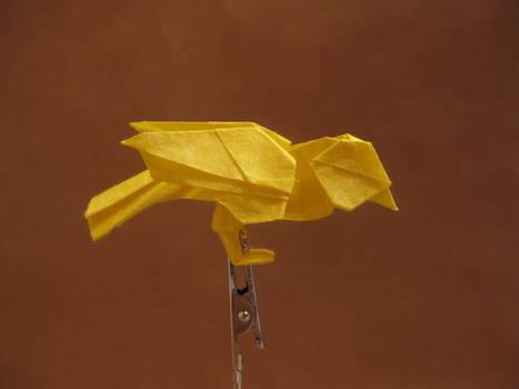 Little Bird by Katsuta Kyohei, folded by me : origami | 350x467