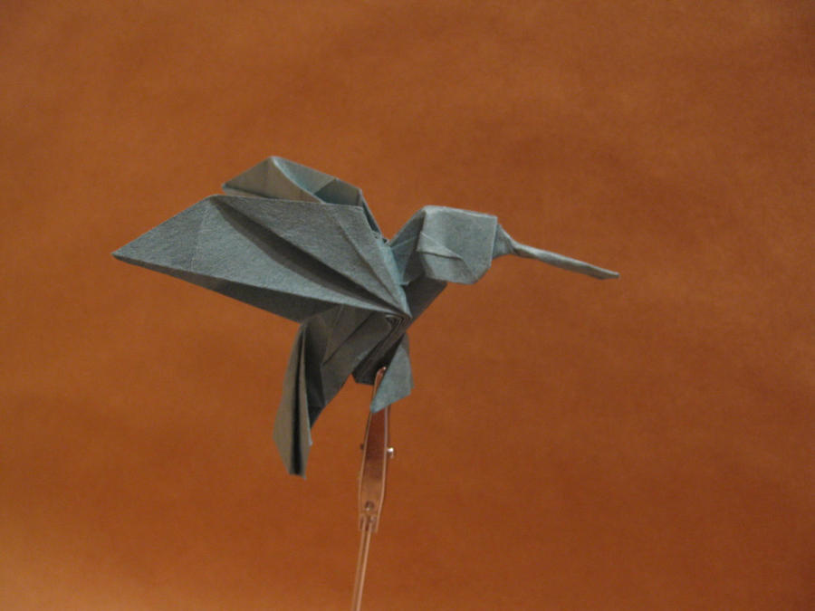 Origami hummingbird by orimin on DeviantArt - photo#25
