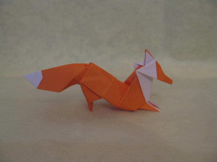 origami fox by orimin on deviantart