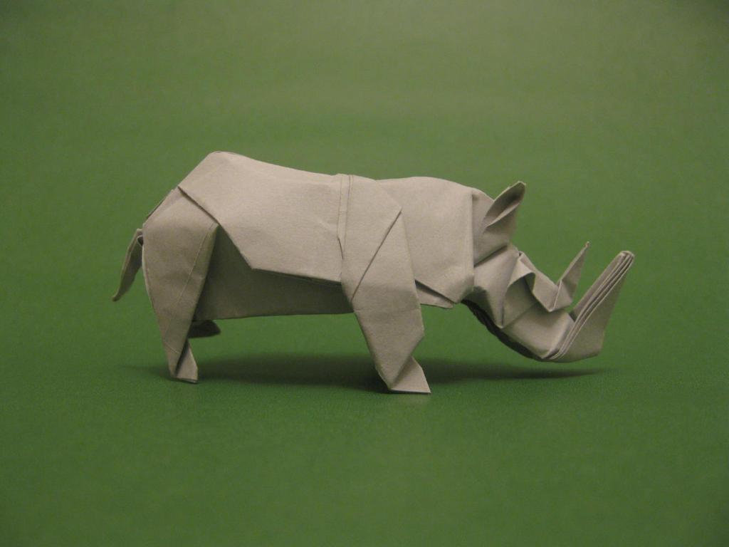 Origami Rhinoceros by orimin