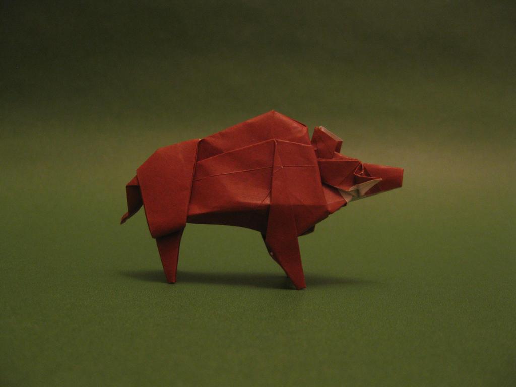 Origami Wild Boar by orimin