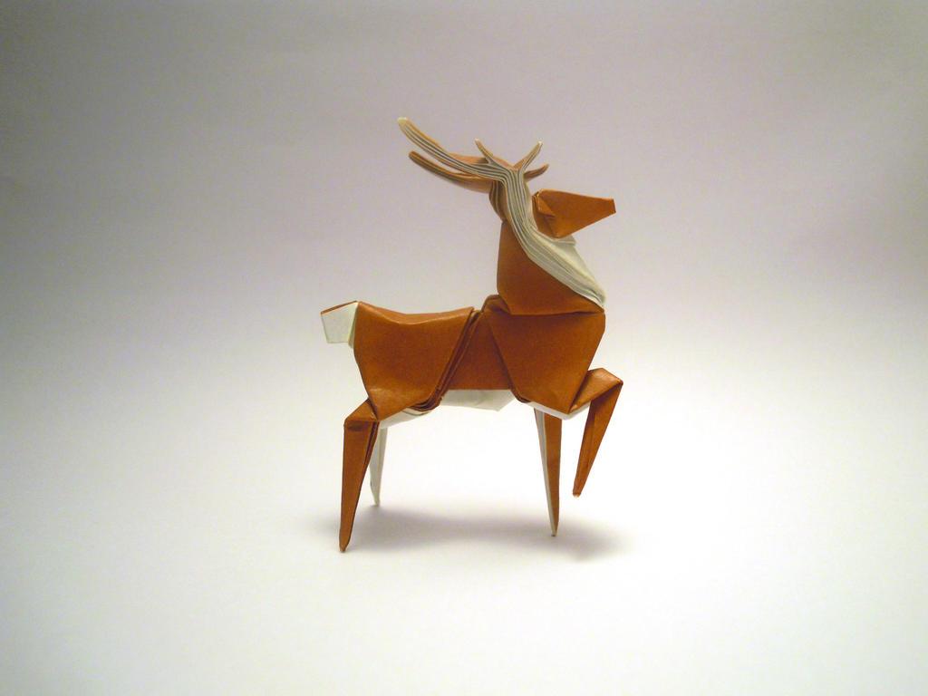 origami deer by orimin on deviantart