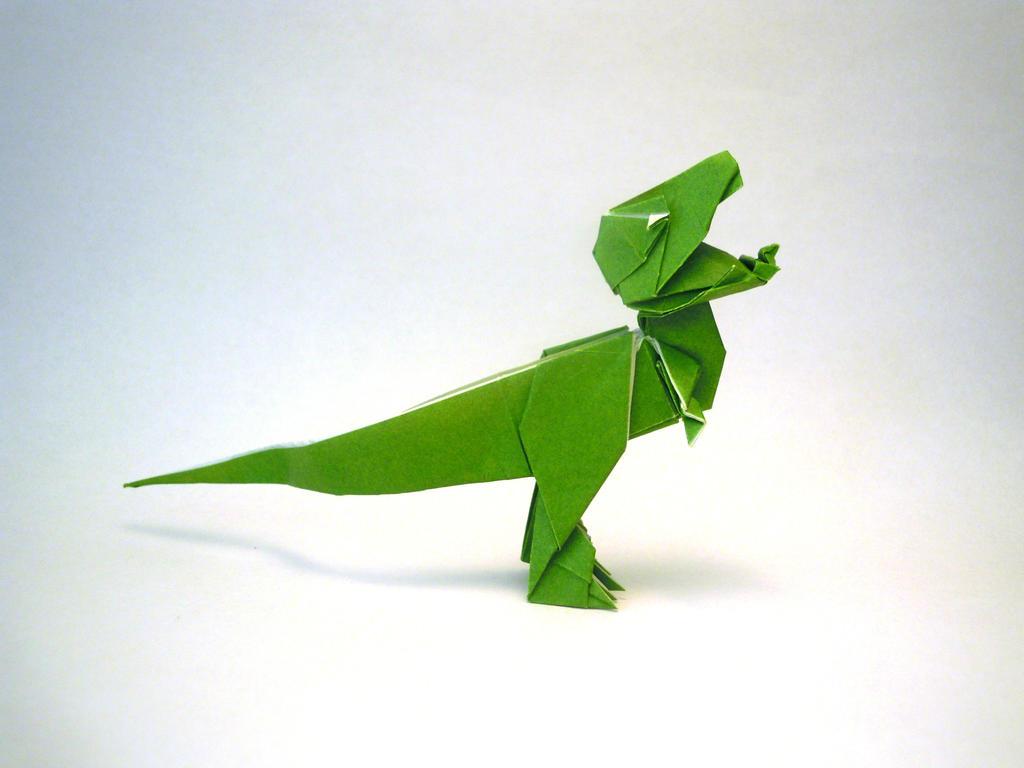 Origami T-rex by orimin on DeviantArt - photo#16
