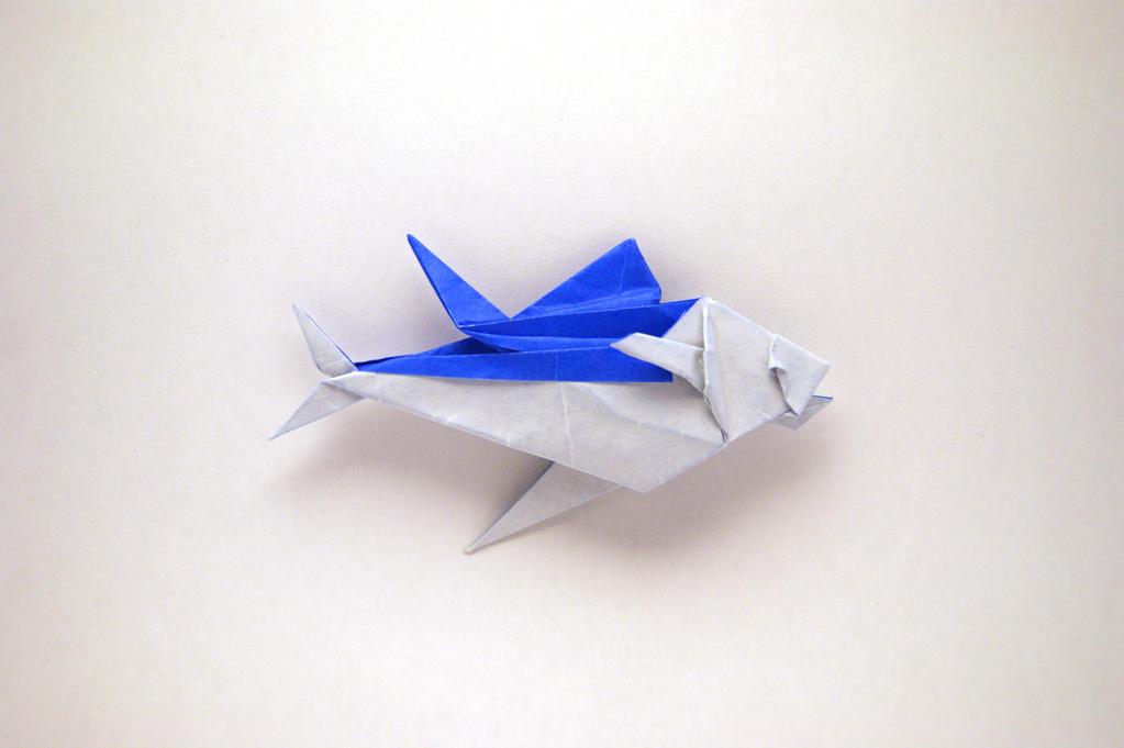 Origami tuna fish by orimin on deviantart for Making tuna fish
