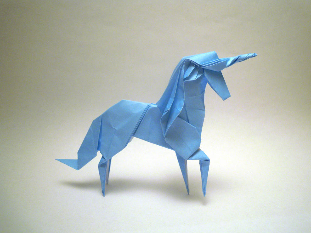 origami unicorn by orimin on deviantart