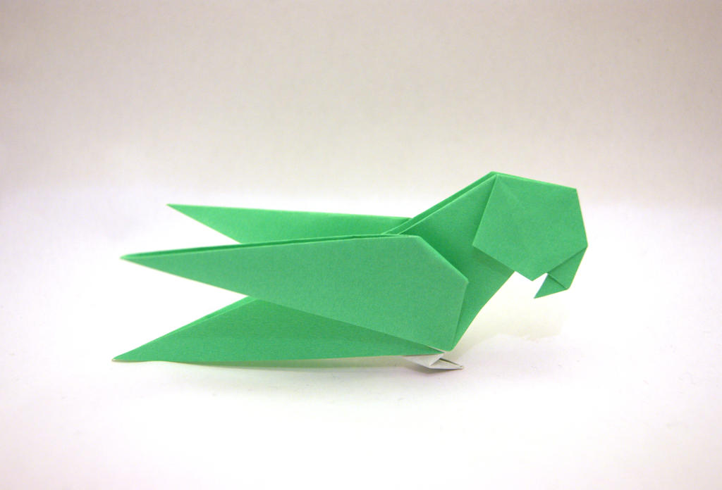 origami parrot by orimin on deviantart