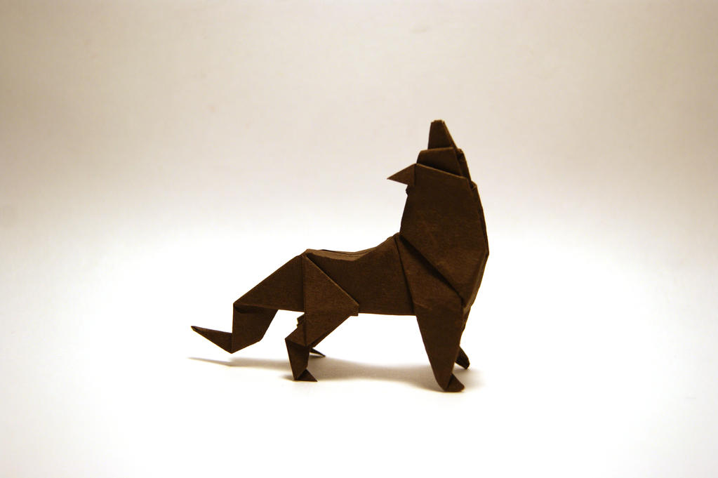 Howling Origami Wolf By Orimin On Deviantart