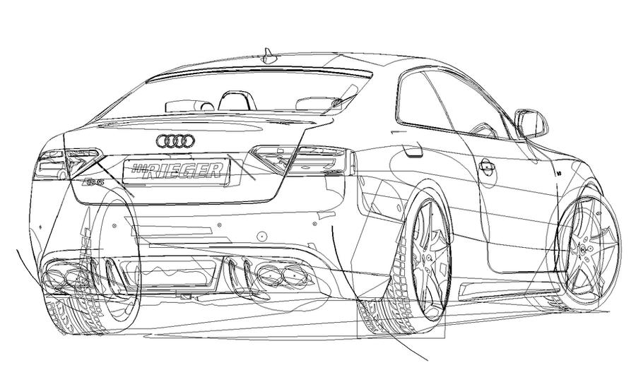 Audi S Vector Linework By RoBozmo On DeviantArt - Audi car vector