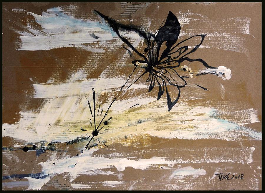 saltwater on cardboard by Minzile