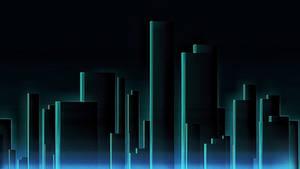 Simple Cyberpunk City Background