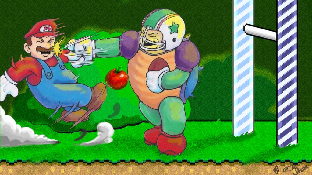 Charging Chuck! Super Mario World by elihaun