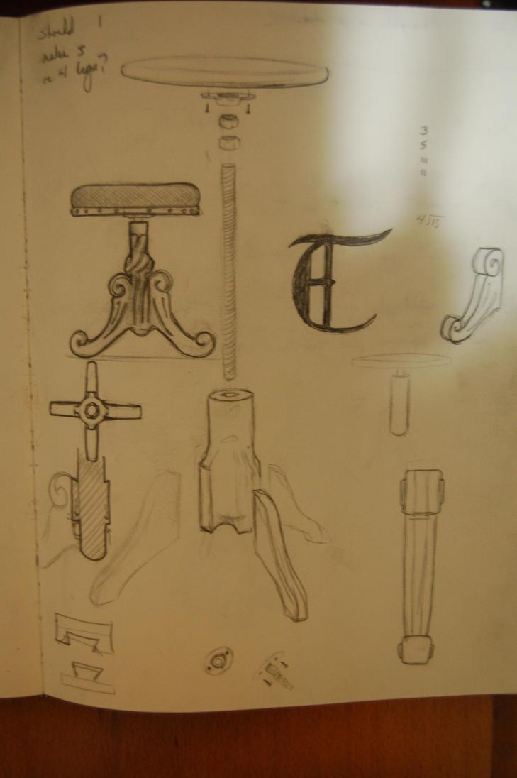sketch stool 1 by elihaun