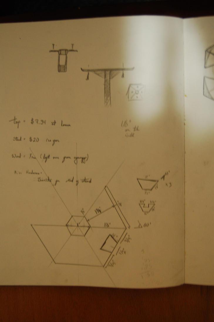 stool sketch 3 by elihaun