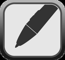 Wacom Pen button by elihaun