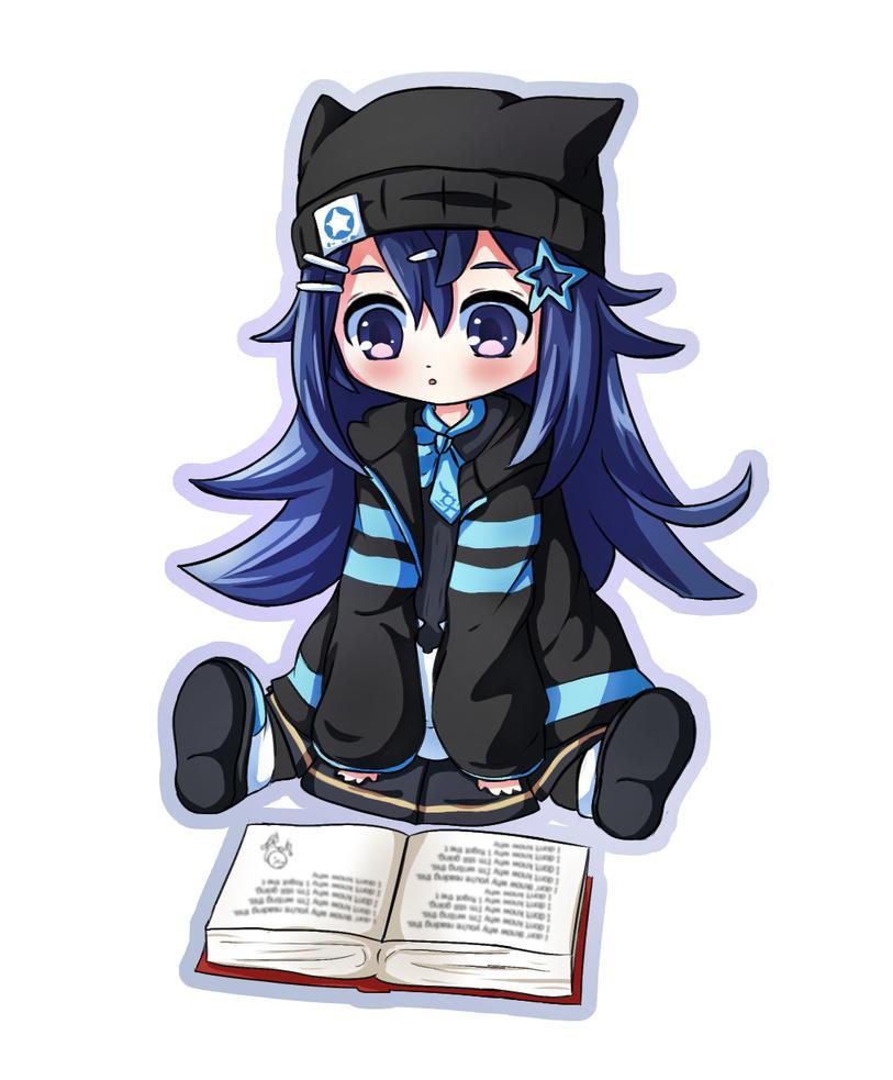 Doujima Yomi Reading Chibi by luko3artist