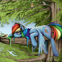 Rainbow Dash by Santagiera