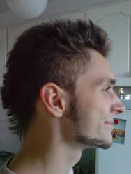 new hairstyle, har har har