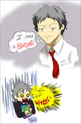 Adachi's Binder by Cardboredbox