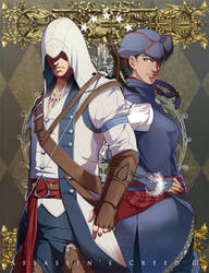 Connor and Aveline by Hinoe-0