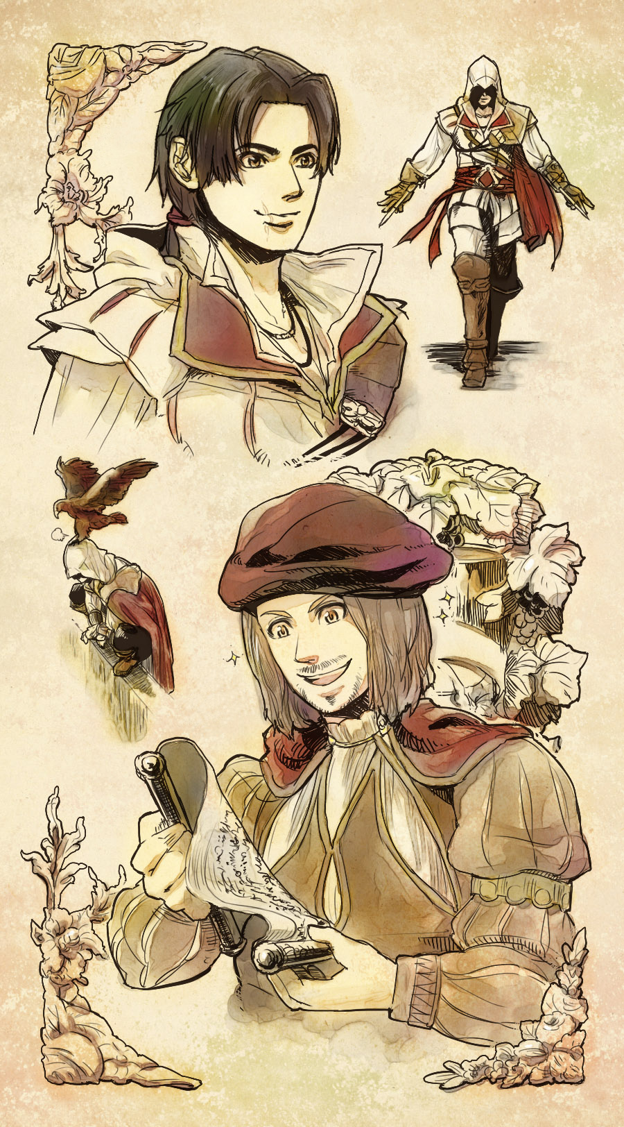 Ezio and Leonardo by Hinoe-0