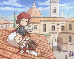 Ezio's nap by Hinoe-0
