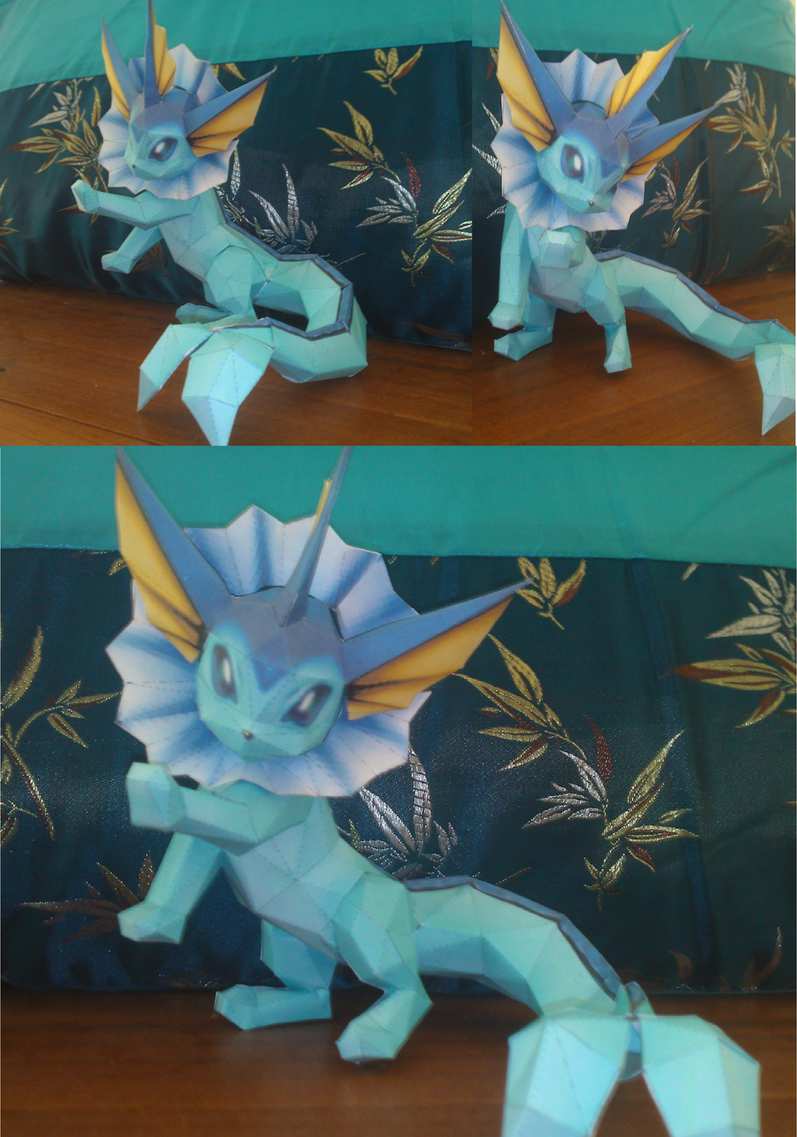 Vaporeon Papercraft by Elycian
