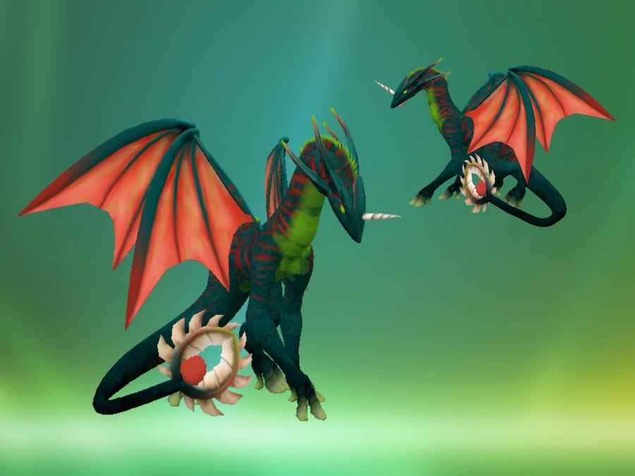 Verdant Dragon - Spore by Elycian