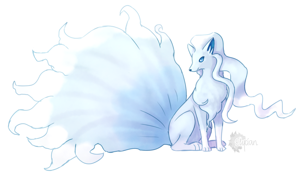 Alola Ninetales by Elycian on DeviantArt