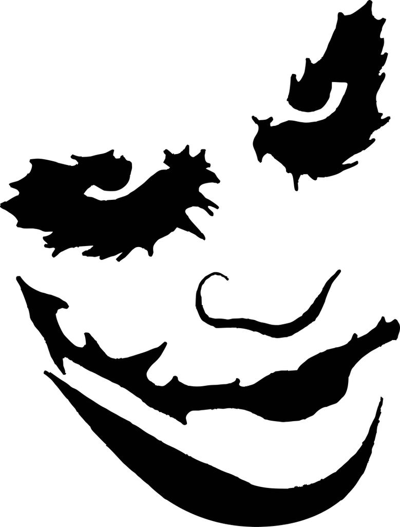 Joker Stencil Vector Art by sartauzumaki on DeviantArt