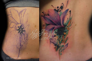 Tattoo flower coverup