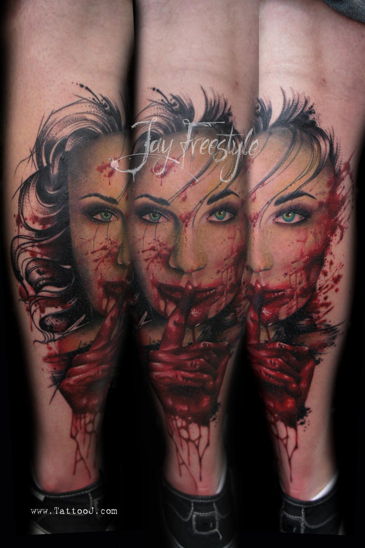 Shhh Shhh tattoo - jay freestyle by