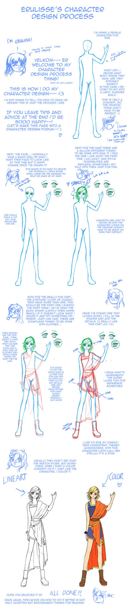 The Character Design Process : Character design process idk by erulisse on deviantart