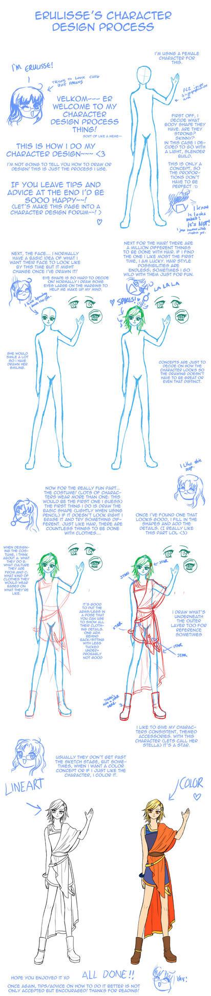 Character Design Process : Character design process idk by erulisse on deviantart