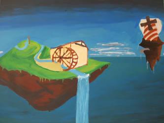 WIP: Steampunk Watermill W7 by lollige