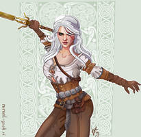 Witcher 3 fan art2 Ciri by Niniel-Gnoll
